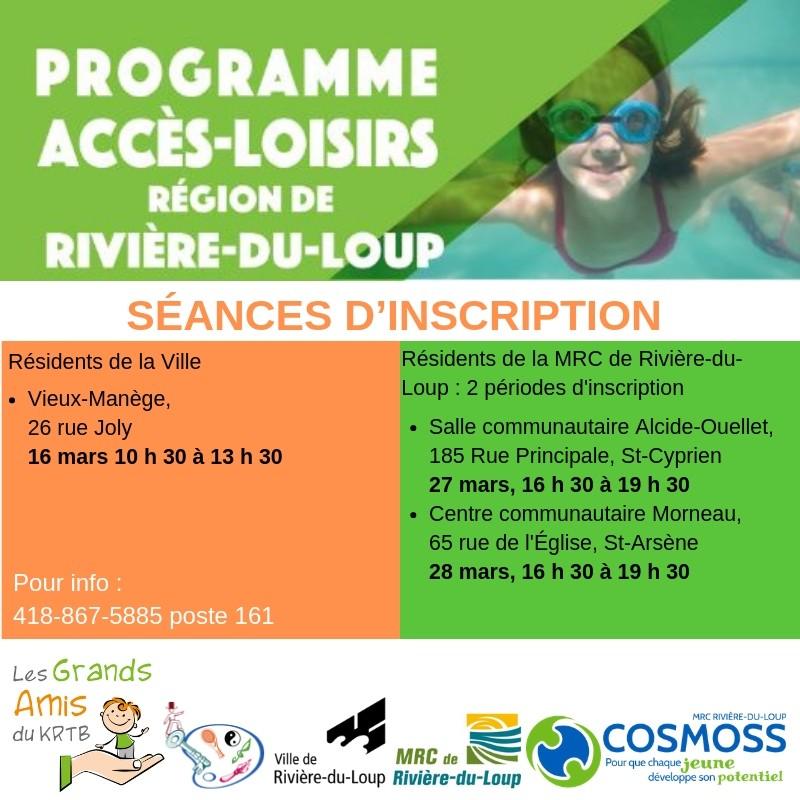 Programme Accès-Loisirs RDL