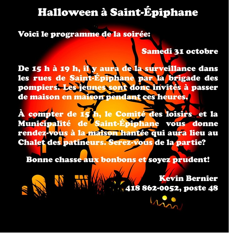 Halloween à Saint-Épiphane (Photo : © Kevin Bernier)