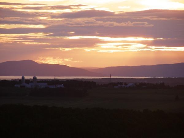 Vue du fjord au nord
